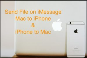 Send file attachment on iPhone from Mac iMessage