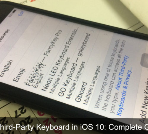 add third-party keyboard in iOS to access instead of iPhone official keypad