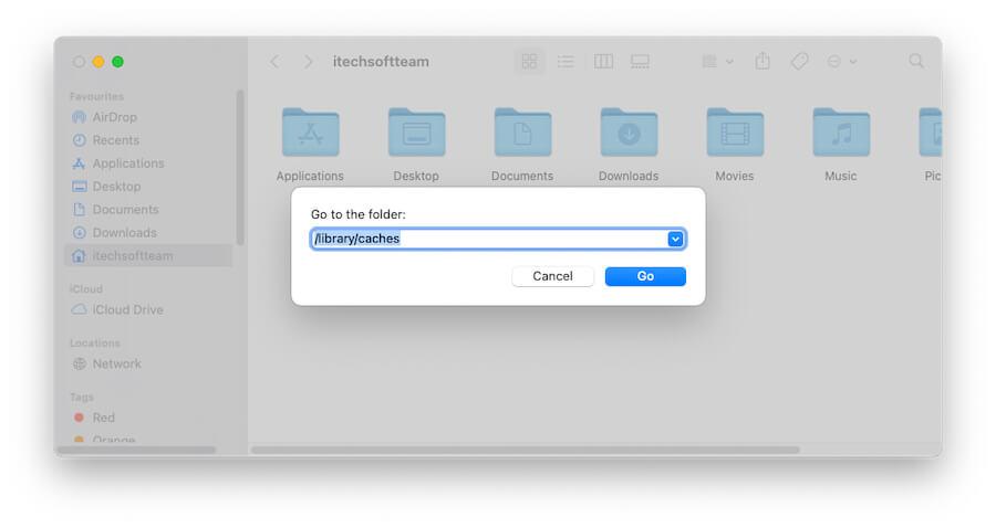 Папка кэша библиотеки на Mac для удаления кеша страницы