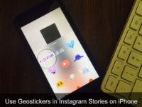 Make Instagram Stories with Geostickers