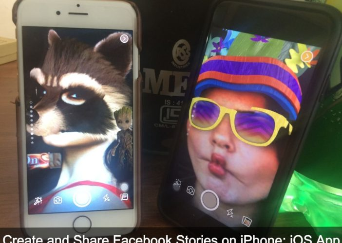 Make and Share Facebook Stories on iOS 10 App how to