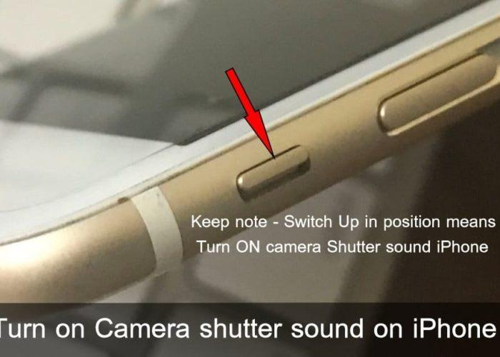 Turn on Camera shutter sound on iPhone 7 Plus