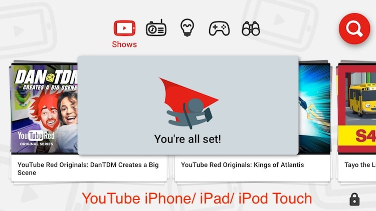 0 YouTube kids app for iPhone and iPad