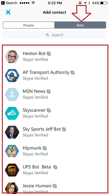 6 Skype Bot on iPhone and iPad