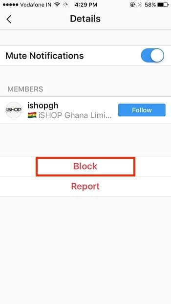 6 notification block on instagram iPhone iPad app