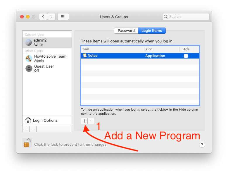 Add a new Startup Program on Mac