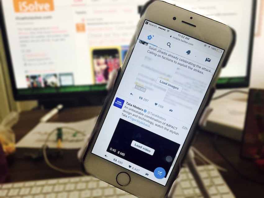 how to use Twitter lite on iPhone, iPad