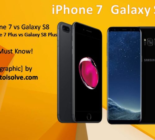 infographics iPhone 7 and Galaxy S8 image