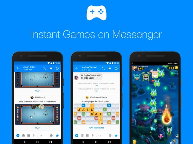 Play Facebook Messenger Instant Games on iPhone, Mac, Windows without install