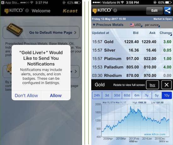 Kcast Gold Live+ for iPhone and iPad