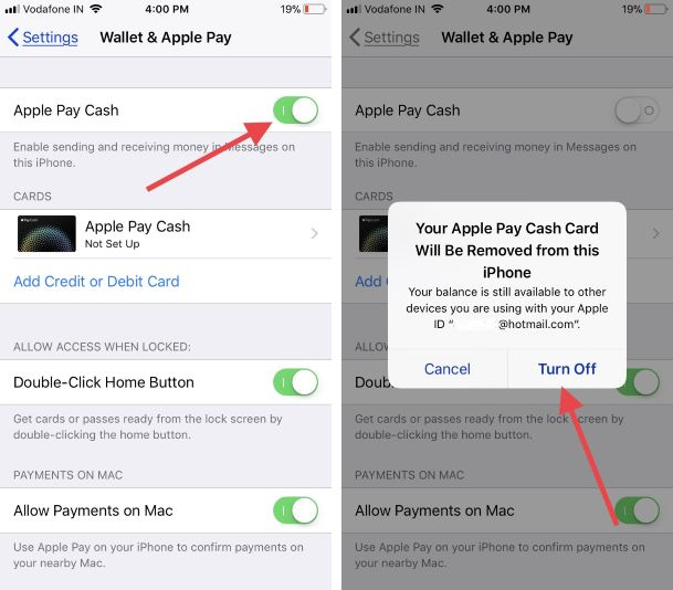 1 Enable Apple pay cash on iPhone for Send money via iMessage