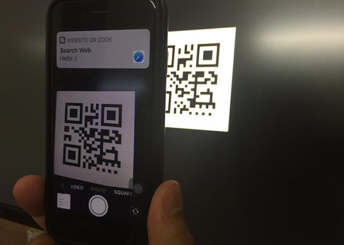 1 QR Code reader in iPhone with iOS 11