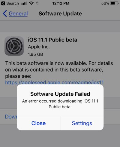 iphone software update failed solved ios 11 3 ios 11 2 6 software update failed on 15462