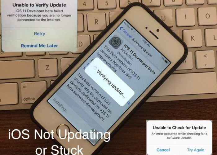 1 iOS not updating on iPhone and iPad