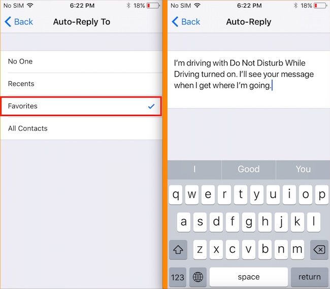 text message auto reply iphone disable enable do not disturb while driving in ios 11 on 18072