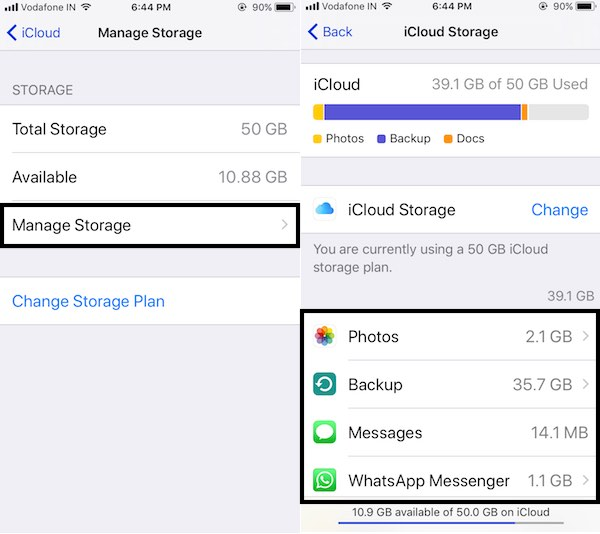manage storage on iphone how to free up icloud storage on iphone x 8 plus 7 15666