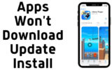 Apps Won't Download Update Install on iPhone and iPad