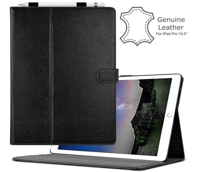 CUVR genuine leather case for iPad Pro 10.5'' with Pencil Holder Best iPad Pro 10.5 leather cases