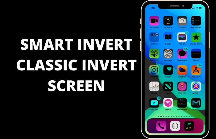 Enable Smart Invert and Classic Invert Screen on iPhone and iPad