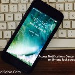 How to Access Notifications Center in iOS 11 on iPhone lock screen