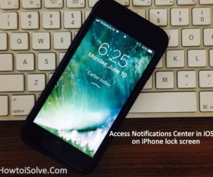 view Access Notifications Center in iOS 11 on iPhone lock screen