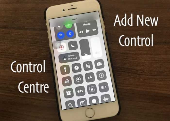 3 Add New control in control centre