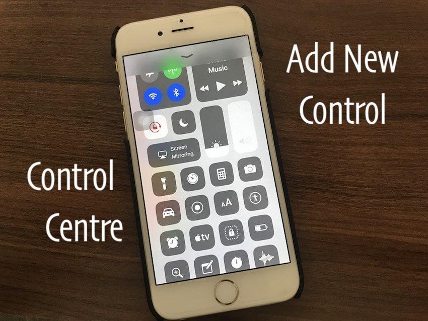3 Add New control in control centre