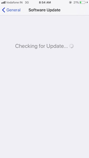 3 Check for new Update in iOS on iPhone and iPad
