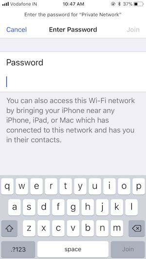 6 Password Sharing Screen for iPhone