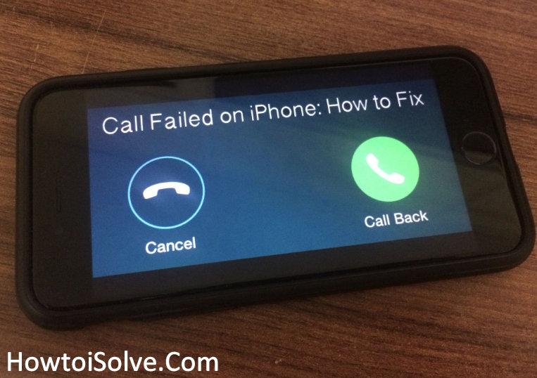 how to fix iphone Call failed in iOS 11 or later