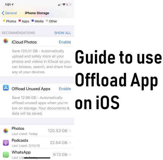 offload apps on iPhone and iPad