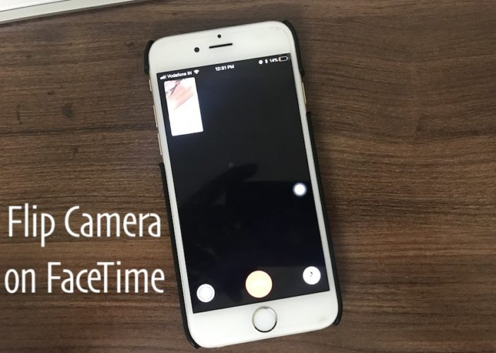 1 Flip Camera in Video call on iPhone for FaceTime