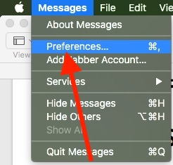 1 Messages Preferences on Mac