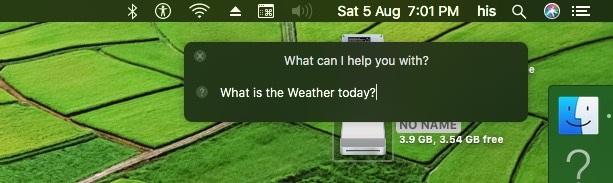1 Задайте вопрос Siri на MacOS Sierra без голосовой команды