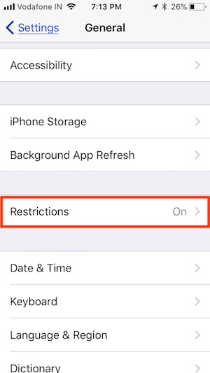 3 Restriction Settings for AirDrop on iOS 11