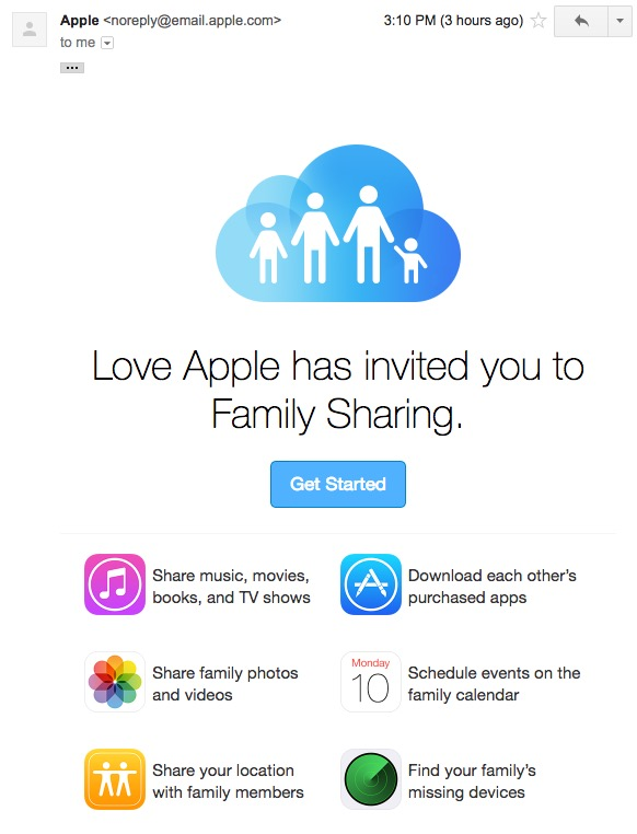 5 Activate Family Sharing From mail