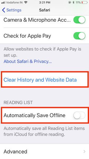 6 Clear Safari Data from iPhone