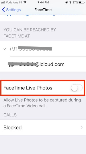 6 Disable FaceTIme Live on iPhone