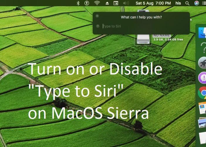 6 Enable Type to Siri on MacOS Sierra