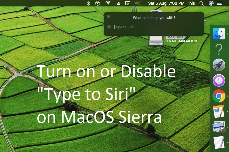 6 Включение ввода для Siri в MacOS Sierra