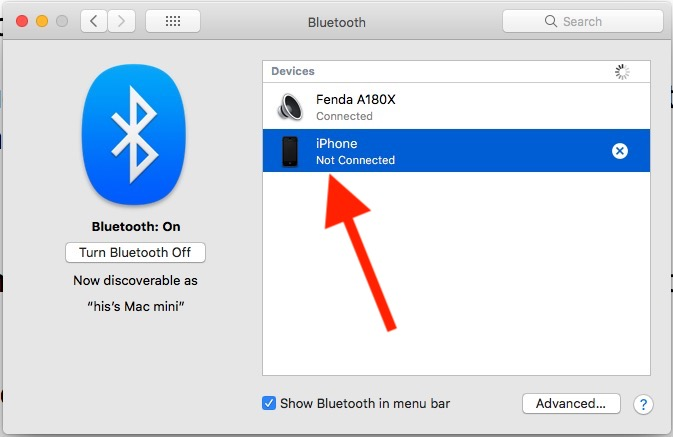 6 Manage Bluetooth device on Mac System Preferences
