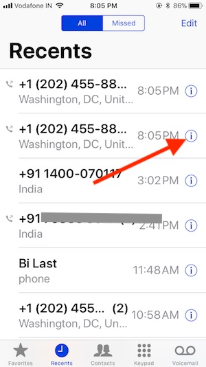 9 Block Unsaved Phone calls on iPhone