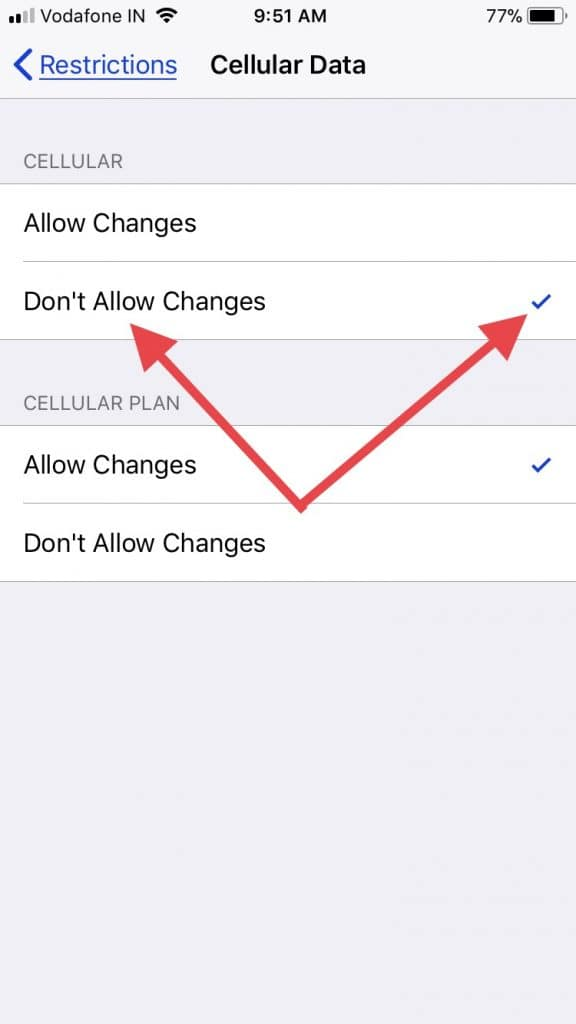 Fix Cellular data keeps turning off ios 11