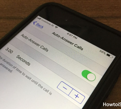 How to disable stop auto-answer phone calls on iPhone iOS 11