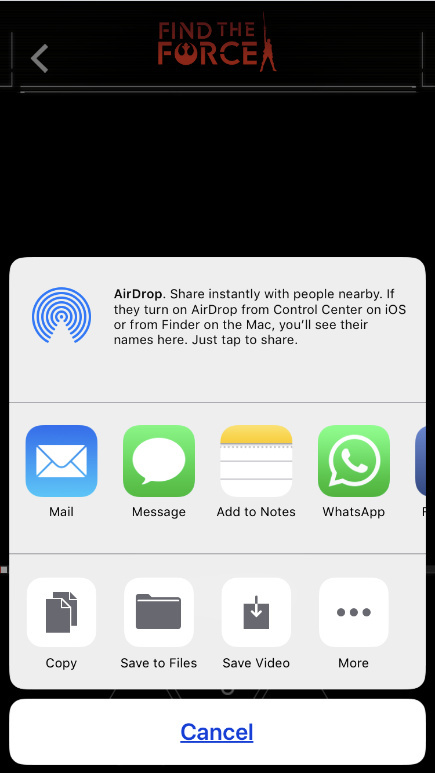 Tap on Share button to share imessage email save to Files Whatsapp on more