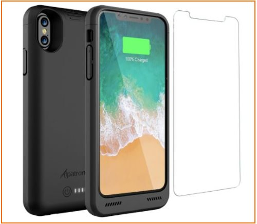 01 Alpatronix Battery Case on iPhone X