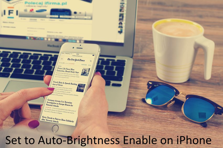 1 Auto Brightness Enable on iPhone in iOS 11