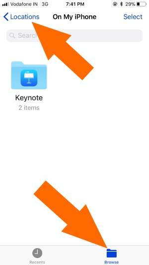 1 Check Locations in Files app on iPhone and iPad
