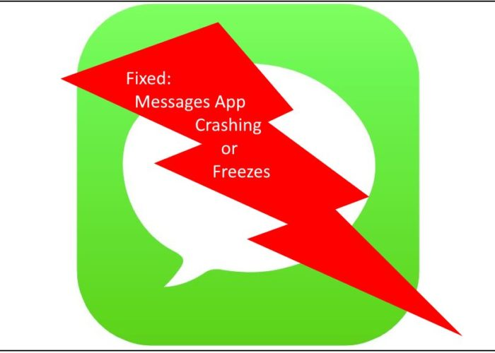 iPhone X Message App keeps crashing