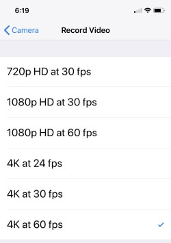 1 Record 4K video on iPhone X (1)